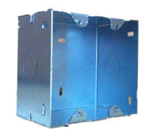 American J Box Double Metal back box