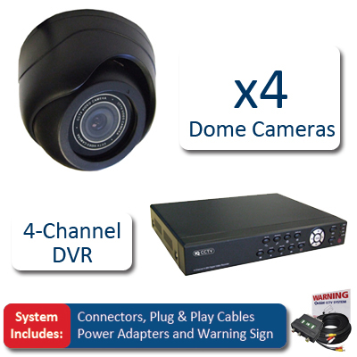 IQCCTV IQSYS4D 4 Dome CCTV Kit
