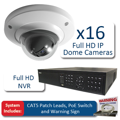 X-Vision Dome 16 Camera Full HD IP CCTV Kit