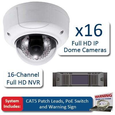 X-Vision 16 Camera HD IP Varifocal CCTV Bundle