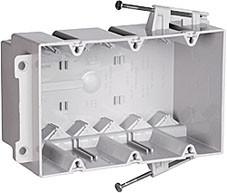 American J Style Treble back box - Plastic Grey